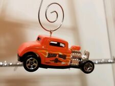 Orange '32 Ford Early Times Coupe Custom Diecast Christmas Ornament FREE SHIP