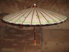 """Vintage 33"""" Wooden & Paper Umbrella [^u16]"""