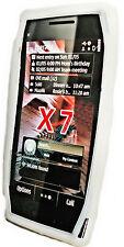 Silikon TPU Handy Hülle Cover Case Weiß + Displayschutzfolie für Nokia X7