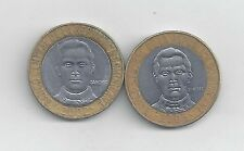 2 BI-METAL 5 PESO COIN from the DOMINICAN REPUBLIC DATING 2002 & 2005