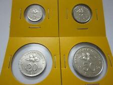 """MALAYSIA  5,10,20 & 50sen coin 1998 Bunga Raya series  """"BU"""""""