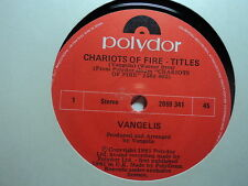 "Vangelis ""Chariots Of Fire - Titles""  Great NZ 7"""
