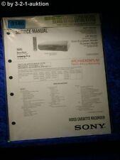Sony Service Manual SLV SE100 SE200 SE250 SE300 SE400 SE450 SX100 SX250 (#5146)