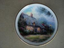 "Thomas Kinkade Moonlight Cottage 6"" Plate Teleflora Painter of the Light"