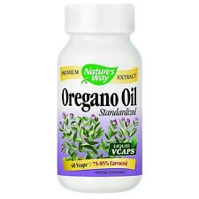 Nature's Way Oregano Oil Extract Liquid Vegetarian Capsules 60 ea