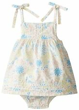 Under The Nile Baby-Girls Infant Floral Print Bubble Dress 0-3M