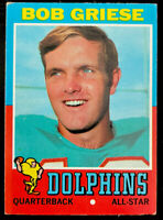 1971 Topps Bob Griese #160 - Miami Dolphins - HOF
