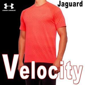 MEN'S UNDER ARMOUR UA TECH VELOCITY JACGUARD SHORT SLEEVE T-SHIRT SOFT RED 2XL