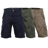 Mens Cargo Combat Shorts Crosshatch Knee Length Thorley Casual Summer Fashion