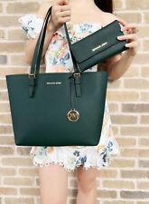 Michael Kors Jet Set средний сумка сумка с короткими ручками гоночный зеленый + бумажник