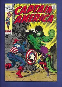 Silver Age Captain America #110 Steranko - HULK Key Issue -1st App. Madam Hydra