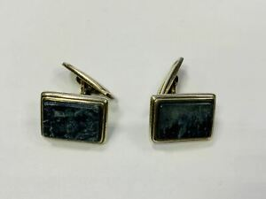 Cufflinks Silver 835 With Blue Stone, Per 6g, Approx. 1,5cm (43913)