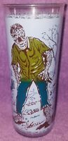 1960s VINTAGE UNIVERSAL PICTURES MONSTER DRINKING GLASS WOLFMAN GRAVEYARD