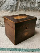 More details for a 19th century inlaid rosewood tea caddy