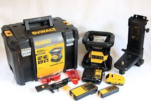 DeWalt DCE079D1R-QW Rotationslaser bis 600m+2 Ah 18V Akku+T-Stak Box+Empfänger