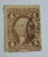 Stamp U S A 1863? Washington Internal Revenue INLAND EXCHANGE 4C Sc#R20c?
