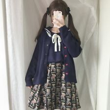 Japanese Sweet Cute Mori Girl Kawaii Lolita Loose Knitting Cardigan Sweaters