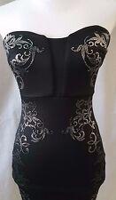 Black GUESS Bodycon Strapless Dress XS S