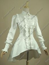 Victorian Vintage White Blouse Steampunk Shirt Ghost Halloween Costume B007 Xl
