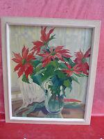 Emebellecedor Pintura __ Flores En Jardín __ Firmado