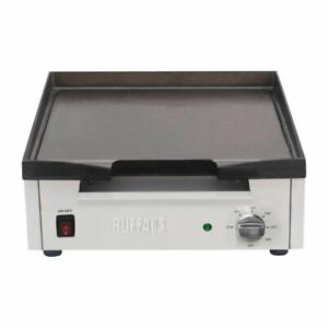 Buffalo Countertop Griddle in Silver - Stainless Steel - Non Slip Feet