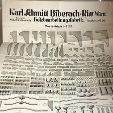 Karl Schmitt Biberach Holzbau für Hausbau und Möbel 1880 (40643)