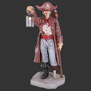 Life Size Pirate With Lantern Themed Statue Indoor Outdoor Promotional Model