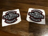 Rockford Fostgate 75th Annual Sturgis Motorcycle Rally iron on patch set of 2