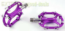Wellgo c247 bicycle bike new platform Alloy pedals anodized Purple MTB 9/16
