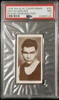 1938 WA & AC Churchman Cigarette Max Schmeling #34 PSA 7 NM Boxing *SCards*