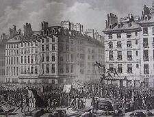 Supplice de Foulon a la place de greve, le 23 juillet ,REVOLUTION FRANCAISE,1794