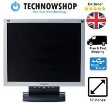 Cheap ViewSonic VA702-2 17'' Flat Panel LCD TFT PC Game Video Monitor Free P & P