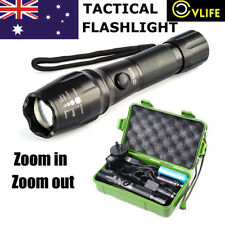 CVLIFE 20000LM Tactical LED Flashlight T6 Military Torch Light+18650 Battery
