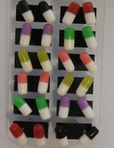 Pill Capsule Earrings 6 colours