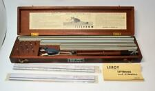 1950s Keuffel & Esser K+E Leroy Lettering Set N3245-12 complete w/ Wooden Box