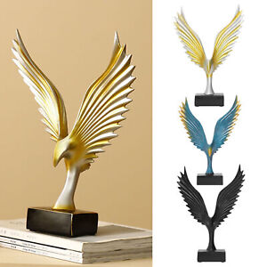 Abstract Eagle Angel Wing Resin Sculpture Desktop Ornament Home Craftwork Decor