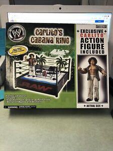 WWE Jakks Pacific Carlito's Cabana Wrestling Ring Playset   ts