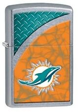 Zippo 29367 Miami Dolphins NFL Street Chrome Finish Lighter