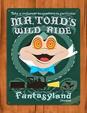 TIN SIGN Disney's Mr. Toad's Wild Ride Cartoon Attraction Art Poster