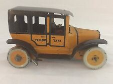 Vintage Straus Tin Taxi Wind Up w/Key