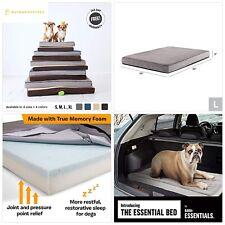 BarkBox Orthopedic Ultra Plush Pressure-Relief Memory Foam Dog Bed or Crate Mat