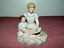 Homco Home Interiors Storytime Woman & Child Figurine & Box #88011-99