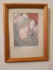 """Vintage Erika Oller Signed Print """"Doing the Inventory"""""""