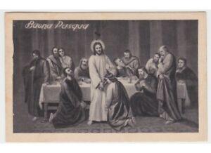 1939 ultima cena Gesù discepoli cartolina pasquale religiose d'epoca augurali