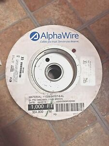 AlphaWire 24 AWG Brown - New 1000' Spool  (304.8 Meters) - Part # 6712 BR005