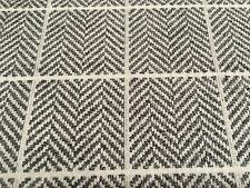 Designers Guild Herringbone Check Upholstery Fab Branette Steel 1.4yd FWY2215/03