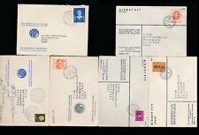1951-1960  NEDERLAND HOLLAND STORIA POSTALE LOTTO DI 6 BUSTE VIAGGIATE - 706