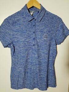 1 NWT UNDER ARMOUR WOMEN'S POLO, SIZE: SMALL, COLOR: BLUE HEATHER (J183)