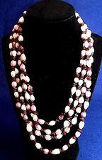 "Vintage Bead / Nut? Necklaces - Set of 2 - 42"" Each - 1980's"
