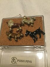 Push Pins Assorted Dogs Push Pins Cork Board Decorative Colorful Enamel Metal